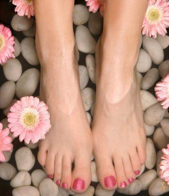 Pedicure + gellac toes